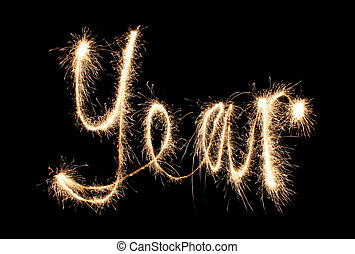 year sparkler (you can see other words in my portfolio)