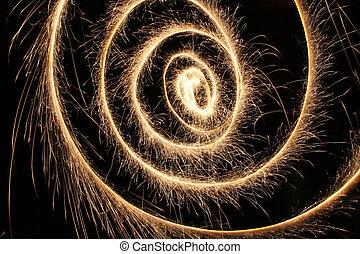 sparkler spiral