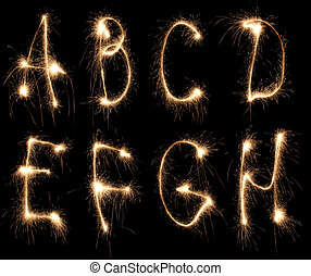 alphabet sparkler (see other letters in my portfolio)