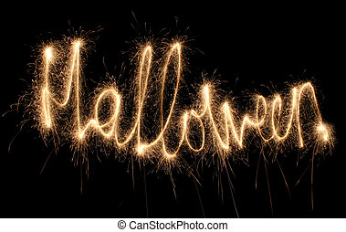 HALLOWEEN sparkler (you can see other words in my portfolio)
