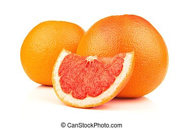 Ripe grapefruit isolated