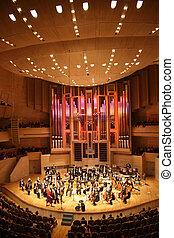 sinfonía, orquesta, 3