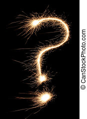 question mark sparkler