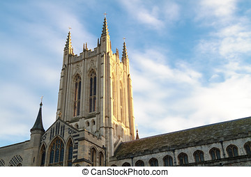 Bury St Edmunds cathedral tower - The tower of Bury St...