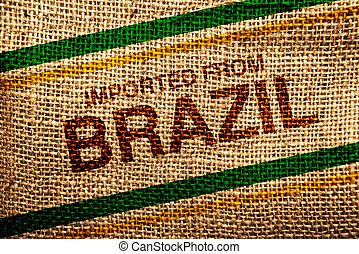 Imported from Brazil printed on Jute canvas texture, natural...