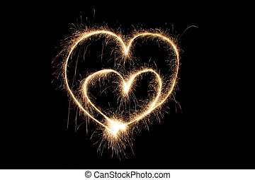 two hearts sparkler