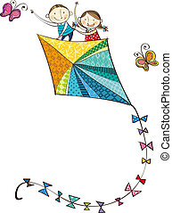 The view of kite - The view of children on the kite