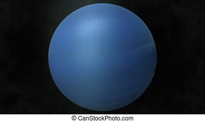 Planet Neptune - Beautiful 3d animation of The Planet...