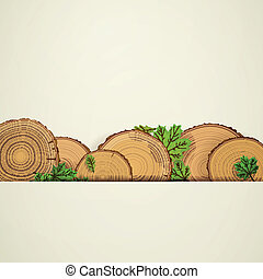 Vector Wood Background - Vector Illustration of a Wood...