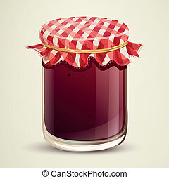Vector Homemade Jam - Vector Illustration of Homemade Jam