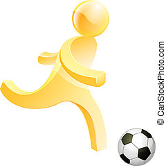 Person playing soccer - Soccer football person, a stylised...