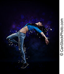 Hip hop dancer - Young woman hip hop dancer