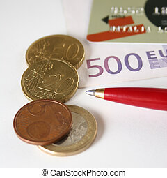credit card euro coin