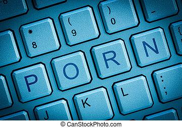 Keyboard porn - Computer keys concept of internet online or...