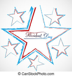 Presidents day background united states stars colorful...