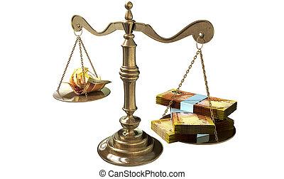 inégalité, BALANCES, de, justice, revenu,...