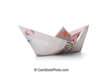 Euro paper boat