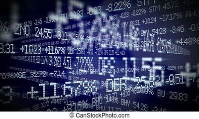 Stock prices on tickers streaming by. All company stock...