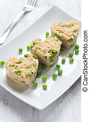 Risotto with peas