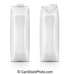 Juice drink carton pack. - White carton pack template for...
