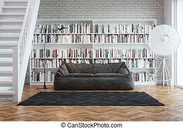 Bücherreihe regal  Clip Art von regal, titel, buecher, franzoesisch, reihe ...