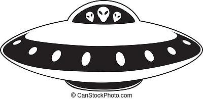 Illustration of flying saucer