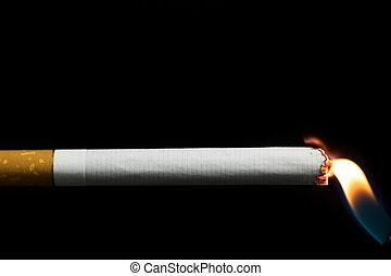 iluminación, Arriba, Cigarrillo