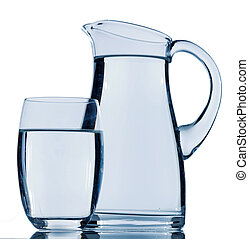 pitcher of water - carafe and a glass of water, symbolic...