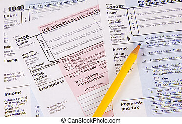 Income Tax Returns - Choose form 1040, 1040A or 1040EZ to do...