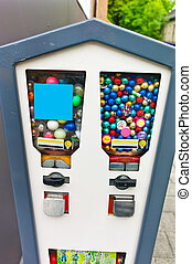 gumball machine, photo icon for childhood, sweets, surprise