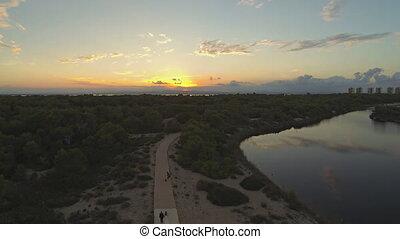 Sunset - Walking at sunset
