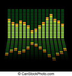 graphic equalizer reflect - Graphic equalizer background...