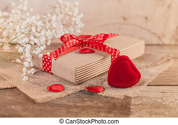 Rustic valentine's day with cute gift