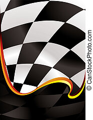 checkered wave golden - checkered flag background with wave...