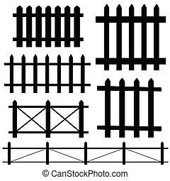 fence vector illustration