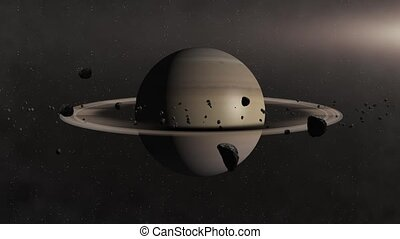 Planet Saturn - Beautiful 3d animation of The Planet Saturn...