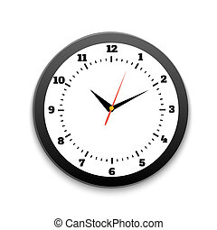 Round office clock
