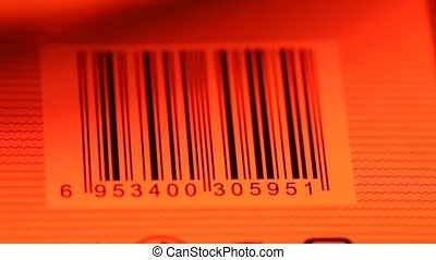 Bar Code Label - Close up of Bar code label on paper