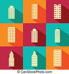 Building and Skyscraper icon - easy to edit vector...