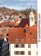 Germany. Tuebingen. Old town - Germany. Old town of...
