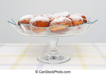 Donuts - Tasty fresh donuts with sugar powder