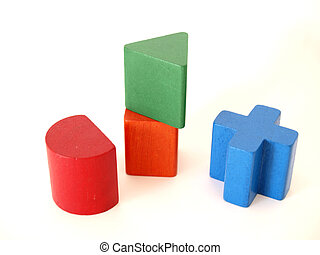 Toy blocks - four toy blocks