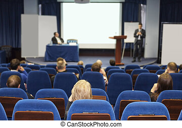 conference hall - Meeting in a conference hall