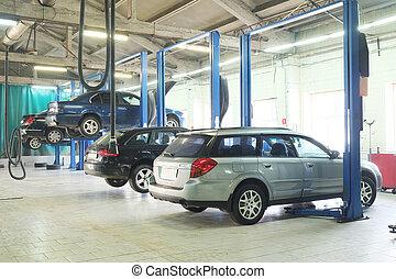 car repair garage - Image of a car repair garage