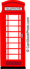 British phonebooth - Red British phonebooth national symbol...