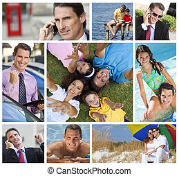 Working Man Father & Husband With Family - Montage of a...