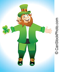 Leprechaun Cartoon Vector illustration
