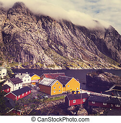 Huts in Norway - wooden fishing cabins in   Norway