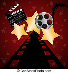 star with film - illustration of stars with film