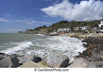 Steephill Cove Isle of Wight UK - Sunny day at Steephill...